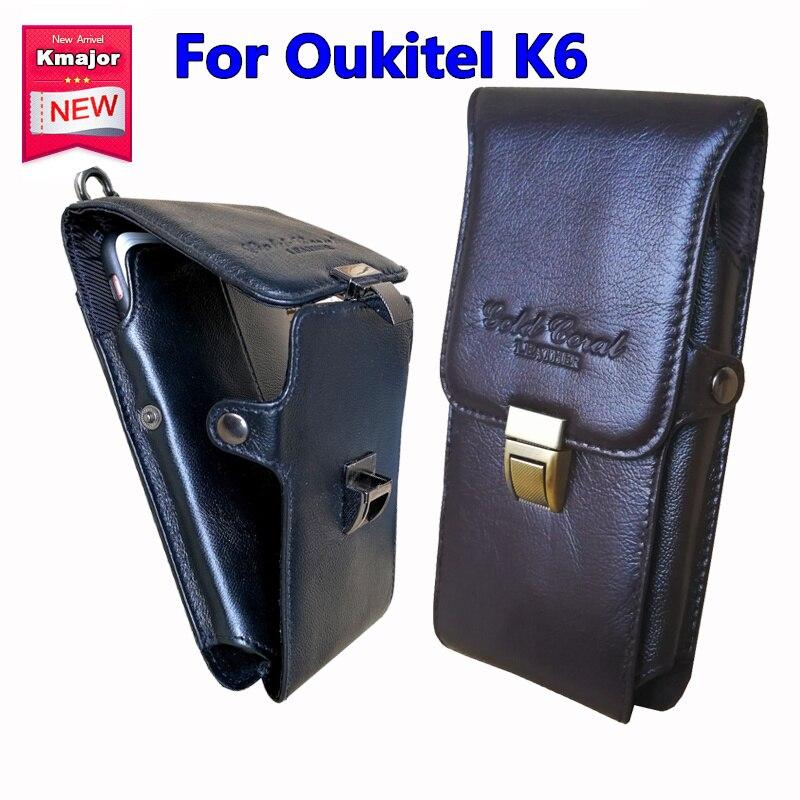 Оригинальный Пояса из натуральной кожи носить Зажим для ремня Талия мешок кошелек чехол для Oukitel K6 6.0 дюймовый мобильный телефон Сумки Беспл…