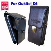 الأصلي اصلي حالة جلدية حزام كليب الحقيبة الخصر محفظة تغطية ل oukitel k6 6.0 بوصة الهاتف المحمول حقائب مجانية مجانا
