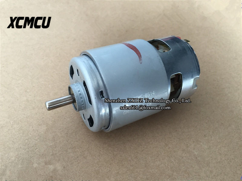 New original RS-775WC  6-20V DC motor RS-775WC-8514/9511 high speed 18V 775 drill motor ,in stock~ rs 775 dc electric 775 motor for drill 12v 24v 80w 150w 288w brush dc motors rs 775 lawn mower motor with two ball bearing