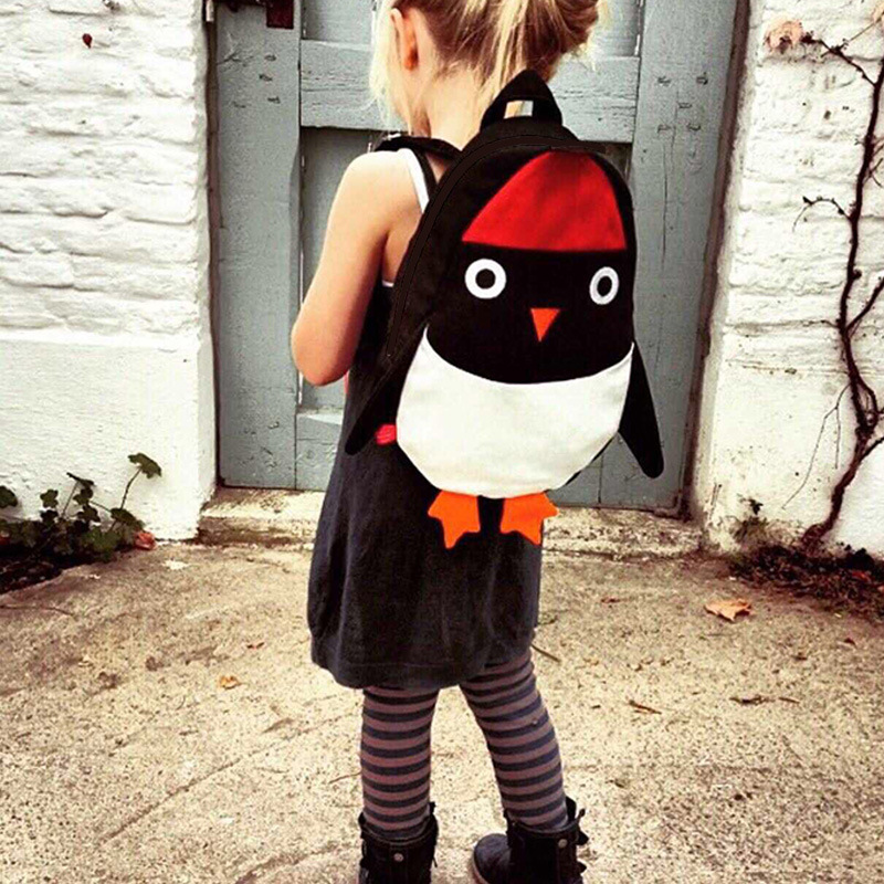 Girls Boys Cute Penguin Backpack Can Match Same Mini Penguin Crossbody Bag  KIDS Canvas Animal Backpack For Kids Girl-in School Bags from Luggage   Bags  on ... bceec6406b2b2