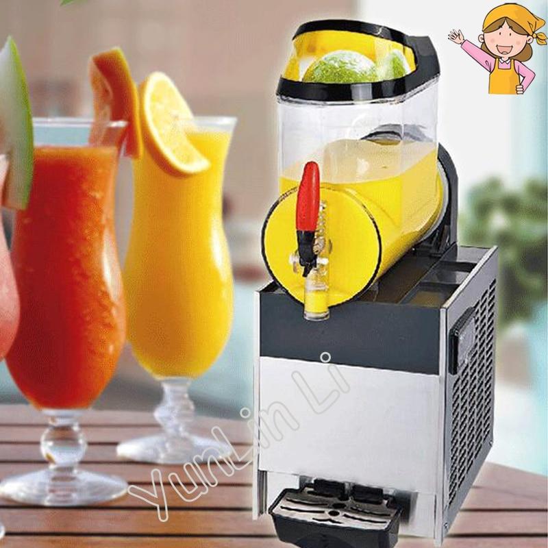 Single Cylinder Commercial Snow Melting Machine 110V/220V Slush Ice Slusher Cold Drink Dispenser Smoothie Machine XRJ10Lx1