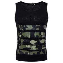 MarKyi fashion 2018 summer camouflage print undershirt men sleeveless tank top slim fit Eu size 2xl