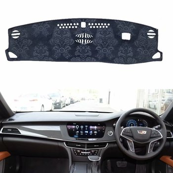 For Cadillac CT6  2016 2017 2018 2019 Flannel Dashmat Dashboard Covers Dash Pad Car Mat Carpet Sun Shade Custom