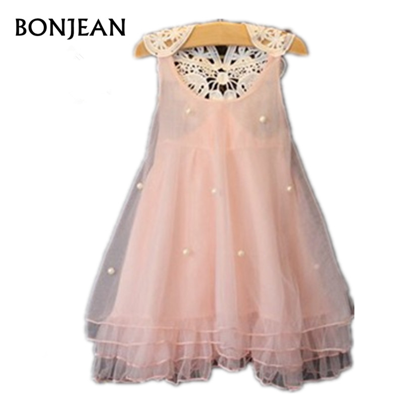 Фото 2018 New Girls Dress Summer Cotton Dresses Sleeveless Princess Lace Birthday Party Children