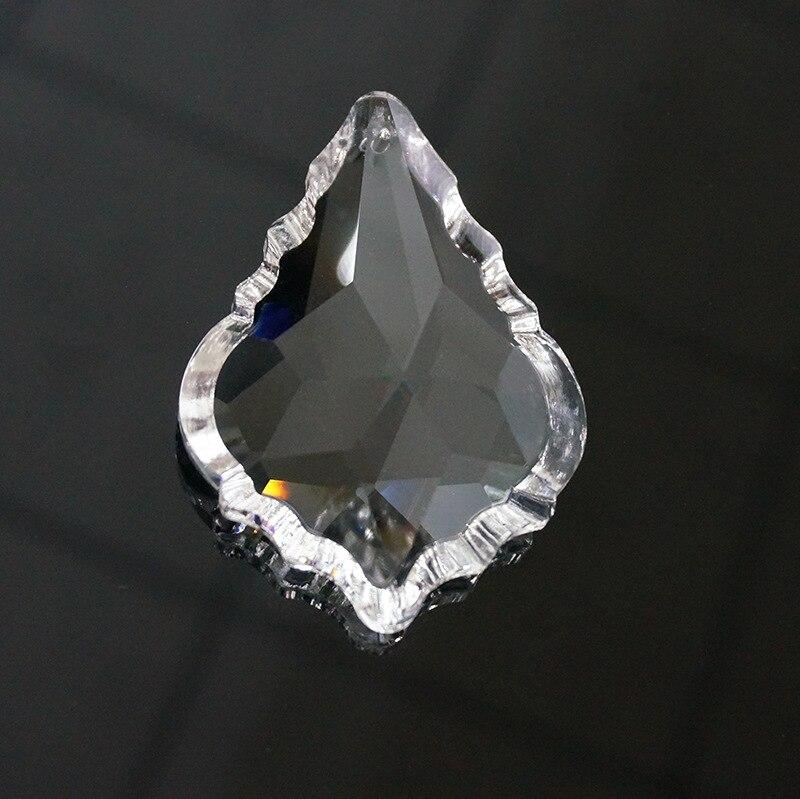 Crystal Chandelier Pendants Parts: 50PCS/LOT,38mm Clear Maple Leaf Suncatcher Crystal