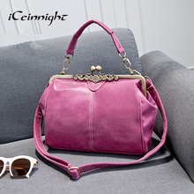 iCeinnight Fashion women messenger bags 2017 leather women handbag cross body vintage bag ladies Nubuck leather