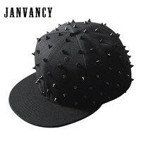 Janvancy Baseball Caps Mannen Vrouwen Zwart Bone Snapback Steampunk Hiphop Hoeden voor Man Dancing/party/shows/gift