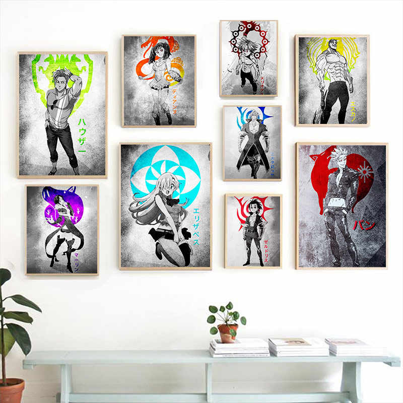 The Seven Deadly Sins Nanatsu no Taizai anime Home Kids living Room Bedroom Decor Print Poster Picture Painting Wall Art Canvas