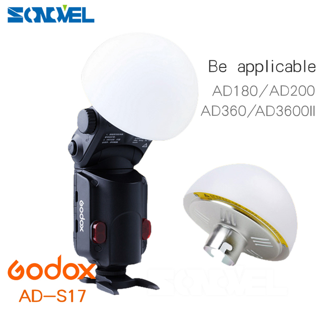 Flash Accessories Godox AD-S17 Wide Angle Soft Focus Shade Diffuser hemispherical compensation for Speedlite Flash AD180 AD360