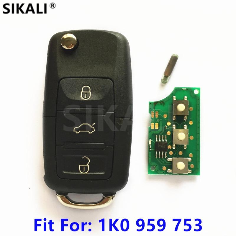Chave Remota do carro para 1K0959753 5FA008749-10 para VW CADDY/EOS/GOLF/JETTA/SIROCCO/TIGUAN/TOURAN Chip ID48 Lâmina HAA