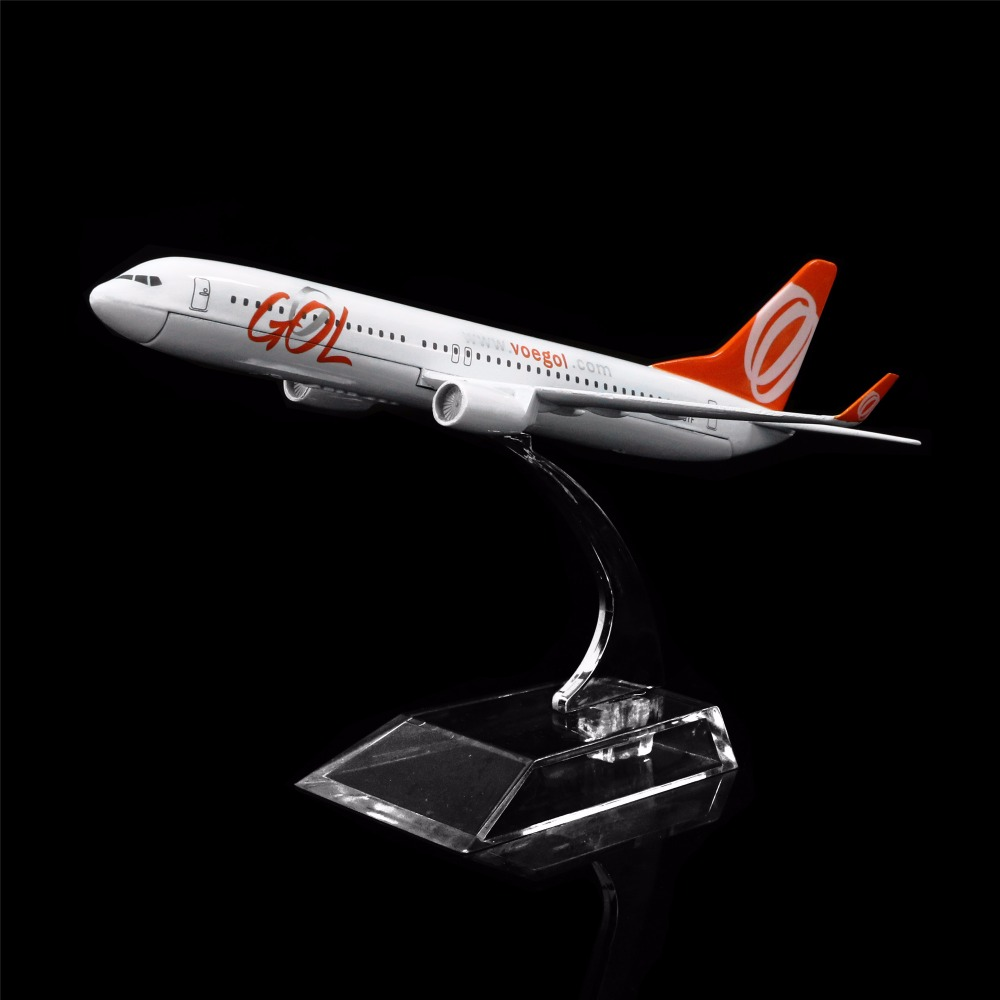 1:400 16cm Brazil GOL Airlines Boeing 737 Metal Airplane Model Office Decoration Toy Gift Idea