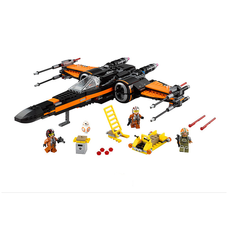 748pcs Lepin Diy Poe's X-wing Fighter Building Blocks Assembled bricks Compatible with legoingly Star X Wing Toys For Children hot sale building blocks assembled star first wars order poe s x toys wing fighter compatible lepins educational toys diy gift