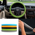 New Green Color Soft Silicon Skidproof Odorless Universal Steering Wheel Cover