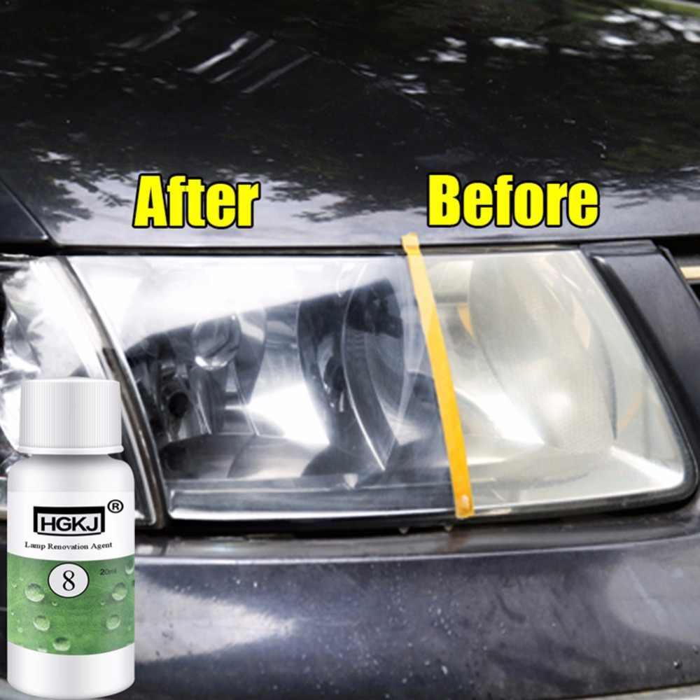 HGKJ-8 Car Headlight Repair Refurbishment Liquid Auto Headlight Restoration  Agent Kit Scratches Lamp Renovation Agent Polishing