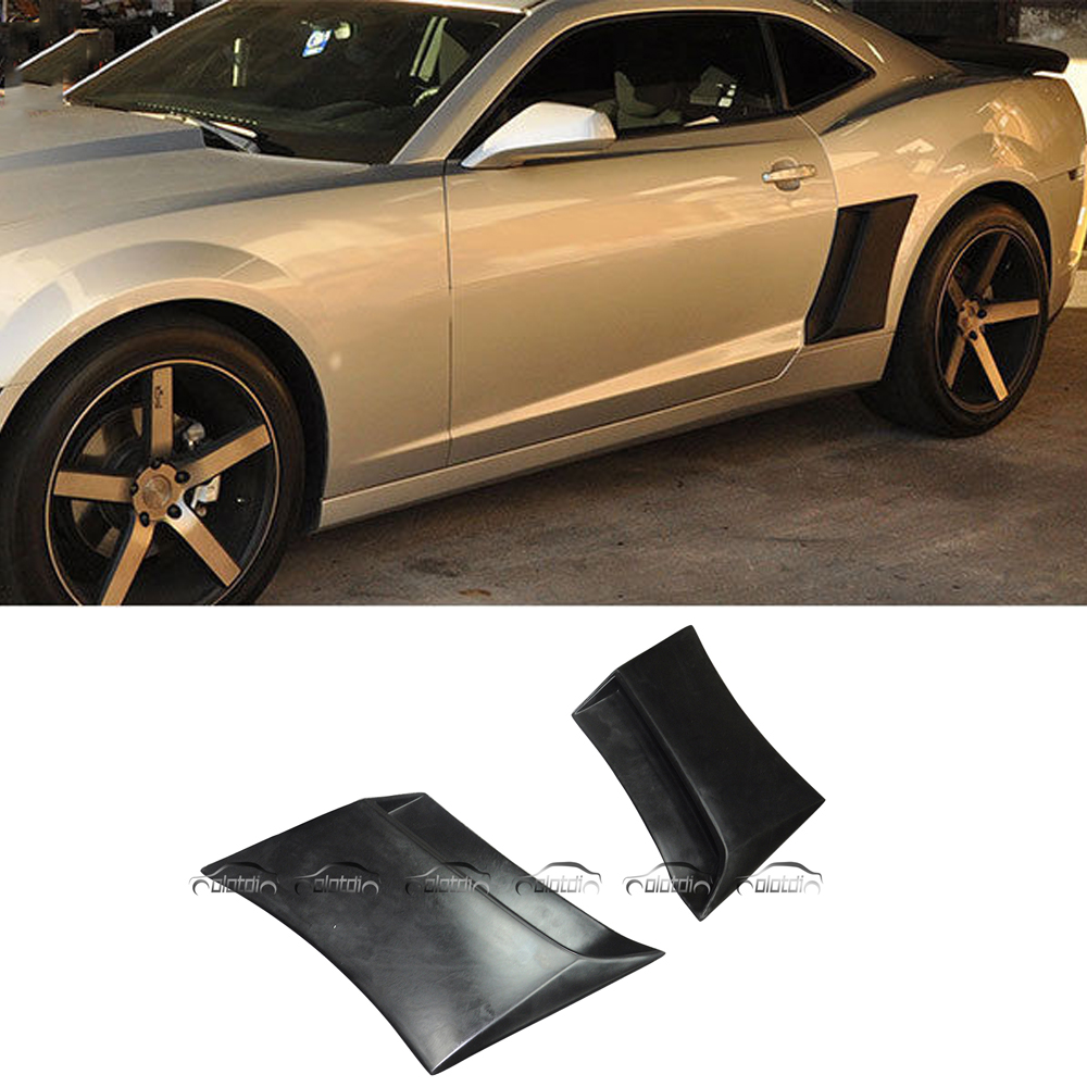 Car Styling PU Material Side Intake Vent Air Flow Fender for Chevrolet Camaro 2010 Up diffuseur arrière carbone bmw x4 f26