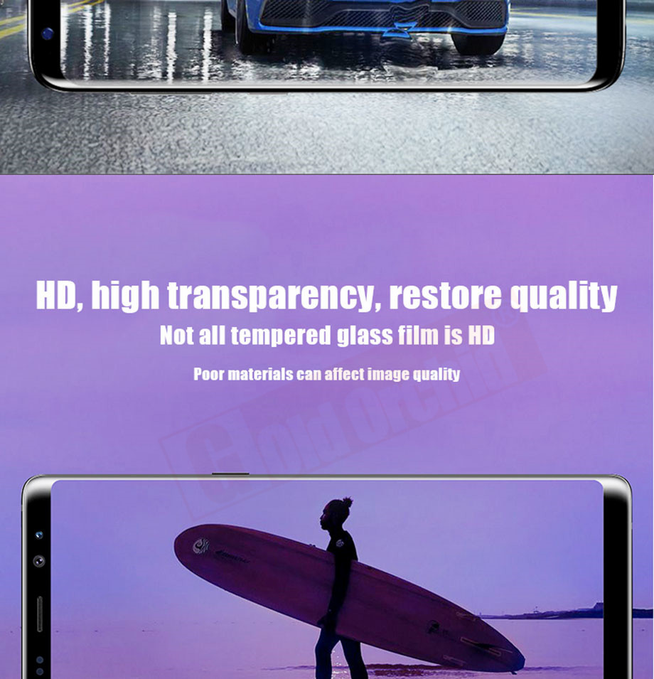 10-PC-For Samsung Galaxy S8 Tempered Glass