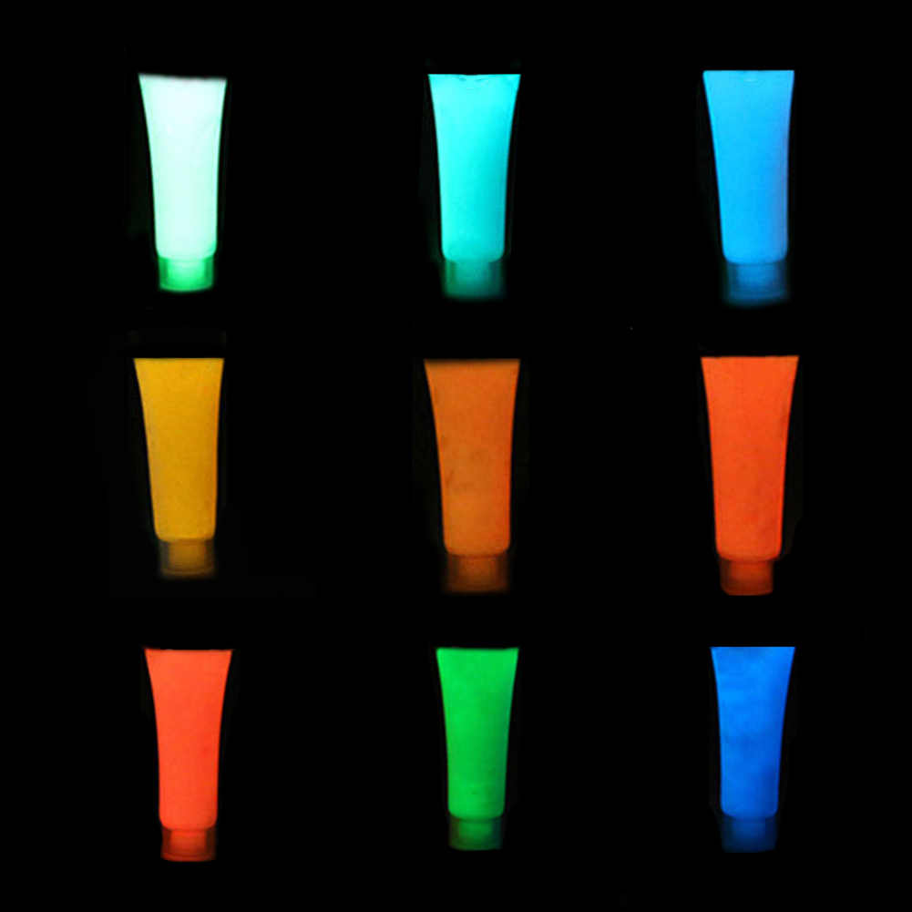 1 Pcs 9 Colors Neon Fluorescent Body Paint Grow In The Dark Face Painting Luminous Party Halloween Glow Party Suppliers Pcs Aliexpress