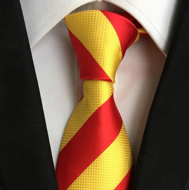 Mode Krawatte Polyester Silk Männer Krawatten Streifen Gravata Business Casual Plaid Krawatte Krawatten Für Männer Krawatte Fliege Taschentuch SchöN In Farbe Bekleidung Zubehör
