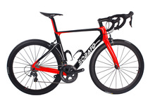 6800 DI2 11S full carbon T700 UD black red racing road frame bicycle complete bike bicicleta
