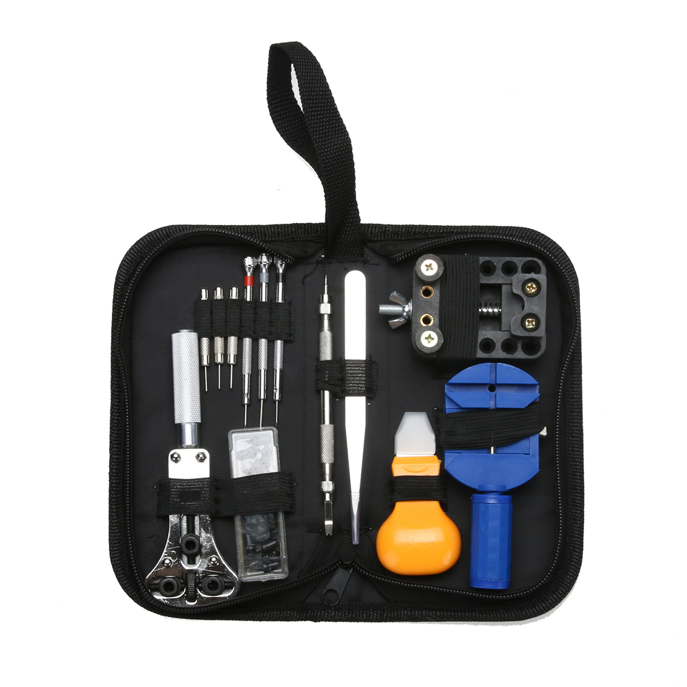 13pcs Watch Repair Tool Kit Set Watch Case Opener Link Spring Bar Remover Fixed Clock Watch Tools Screwdrivers Set for Watches