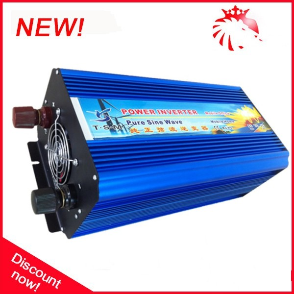 цена на Hot sale 4000 watt Pure sine wave inverter, Pure sine wave dc to ac Pure inverter 4000W Peak 8000W for solar system