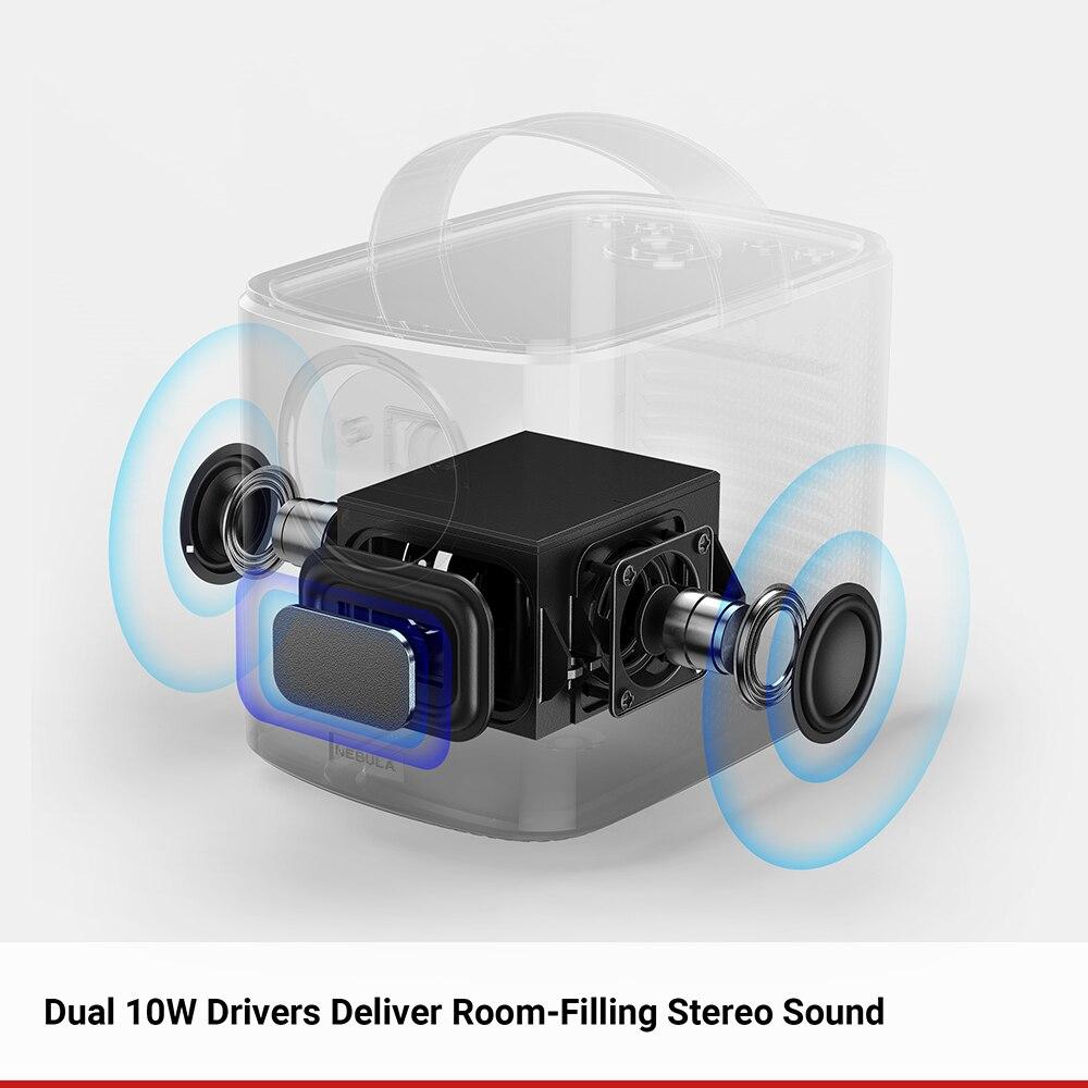 Mgławica Anker Mars II 300 ANSI lm przenośny projektor kina domowego z 720p 30-150 ''DLP obraz 10W głośniki Android 7.1