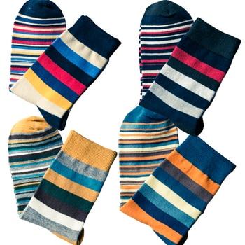 10pcs=5pairs=1 Lot Mens color stripes socks the latest design popular mens STRIPED SOCKS SUIT FASHION COLOURED COTTON