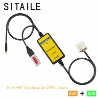SITAILE Car 6+6 p Interface Adapter Machine for Toyota Corolla Scion Camry Yaris Lexus IS GS USB AUX MP3 Music CD Player