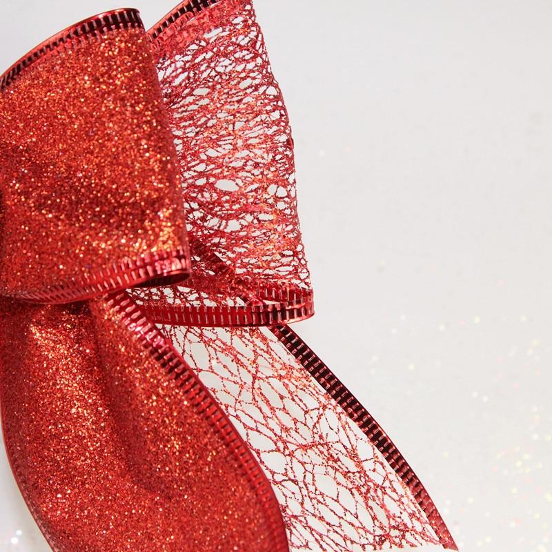 Uus odav lint vibu punane jõulud lint vibu jõulupuu teenetemärgi - Pühad ja peod - Foto 5