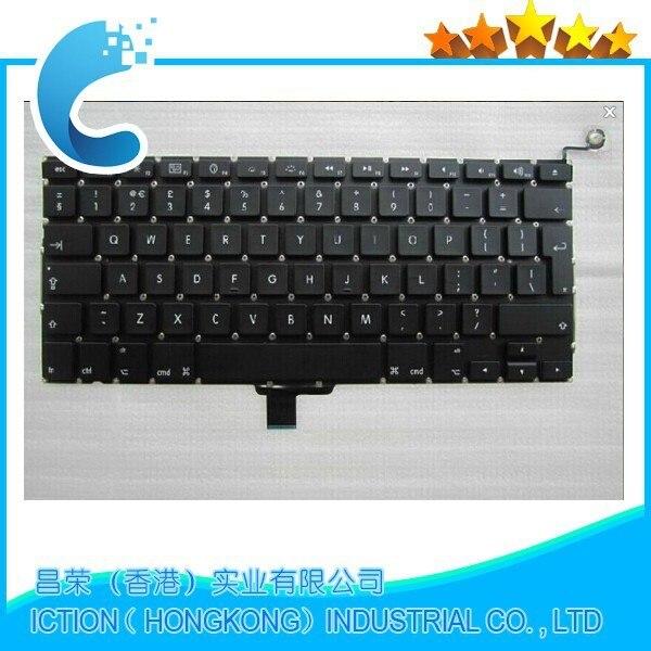 Original new UK Keyboard  For Macbook Pro A1278 2009 2010 2011  UK keyboard