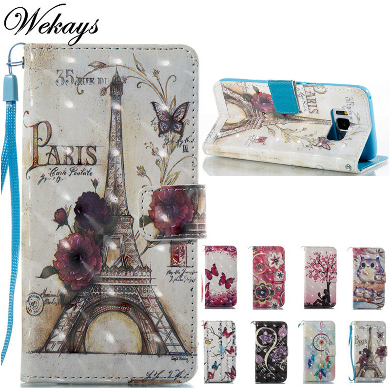 Wekays Cover For <font><b>Samsung</b></font> Note 8 Cartoon Paris Tower <font><b>Leather</b></font> Funda <font><b>Case</b></font> For <font><b>Samsung</b></font> Galaxy <font><b>S5</b></font> S6 Edge S7 Edge S8 Plus Cover <font><b>Cases</b></font> image