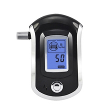 Police Digital Breath Alcohol Tester Breathalyzer Professional Portable LCD Alarm Analyzer Breathalyser Detection Device