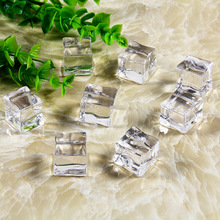 10pcs/kit Artificial Ice Acrylic Cubes Fake Crystal Background Adornment Shooting Photography Props for Fruit Drinks Beer Whisky