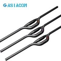 ASIACOM Full Carbon Bicycle Double tube handlebar Mountain bike handle 31.8*600-760mm Folding bicycle 25.4 handlebar Bike parts