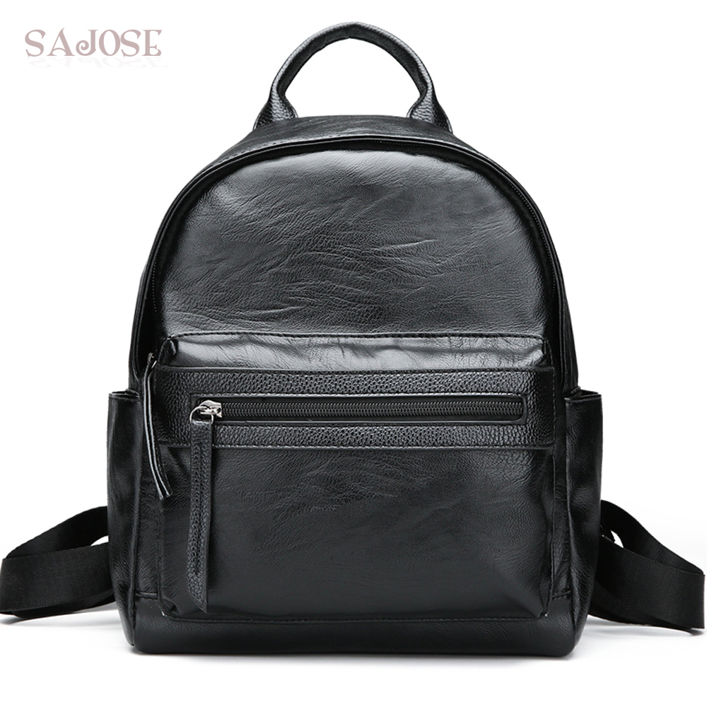 Women PU Leather Backpack Fashion Black High Quality Student Bag Lady Casual Designer Women's Shoulder Bag Drop Shipping women backpack fashion pvc faux leather turtle backpack leather bag women traveling antitheft backpack black white free shipping