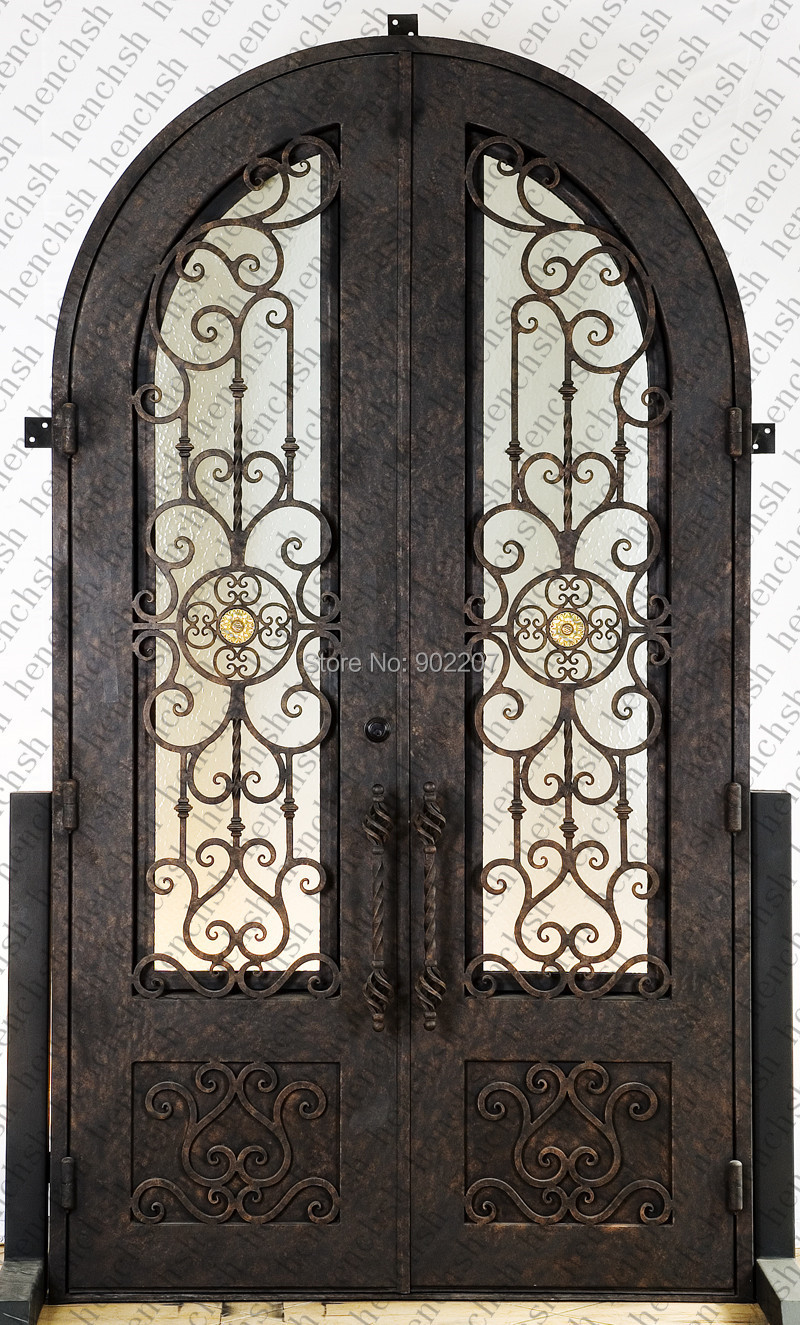 Hench 100% Factory Wholesale Wrought Iron Front Doors