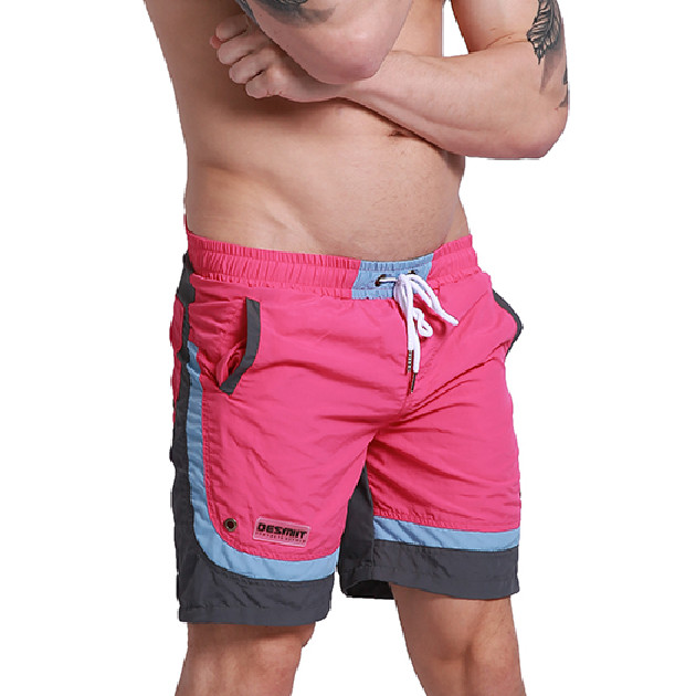 Summer Men Beach   Board     Shorts   Polyester Quick Dry Male Man Bermudas Surfing Swim   Shorts   Swimwear GYM Sportswear Insider Liner