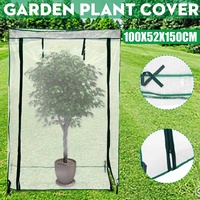 Portable Outdoor Greenhouse Plant PVC Cover Gardening Vegetables Flowers Shelve 100x52x150cm Waterproof Corrosion resistant