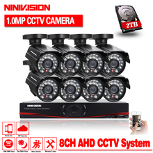 1080P HDMI 1080N DVR 720P HD Indoor Home Security Camera System 8CH CCTV Video Surveillance DVR Kit AHD Camera Set 1.0mp camera