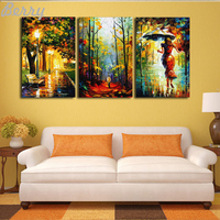 New 5D DIY Diamond Painting Street People Diamond Embroidery Icon Cross Stitch Paint Picture Of City