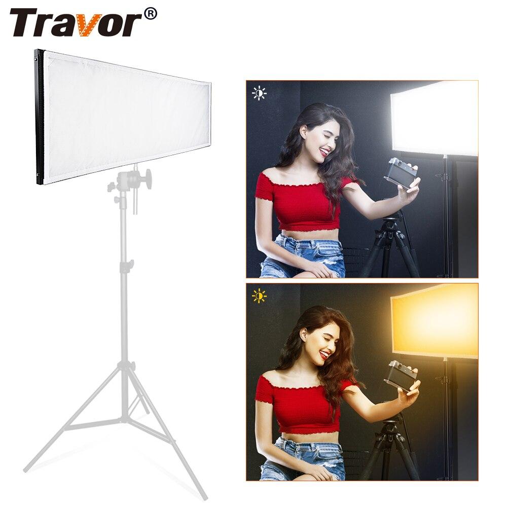 Travor FL-1X3A/FL-3090A 1X3'/30x90 cm Bi-Couleur LED Panneau Lumineux Tapis sur Tissu pour voyage Cinéma En Plein Air Photographie Éclairage