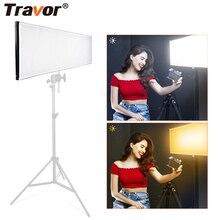 Travor FL 1X3A/FL 3090A 1X3/30x90cm iki renkli LED ışıklar paneli Mat kumaş seyahat film yapımı açık hava fotoğrafçılığı aydınlatma