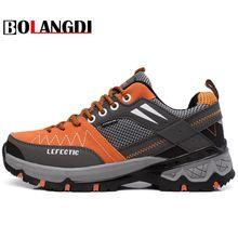 Bolangdi 2017 New Anti-Slippery Men Hiking Shoes Outdoor Climbing Mountain Hunting Trekking Fishing Brand Hiking Shoes Sneaker