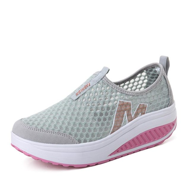 Women's High Increase Breathable Wedge Walking Sneakers