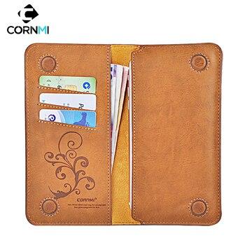 6,0 Универсальный Винтаж кожа флип-кейс с бумажником для iPhone XR XS 8 7 Plus для samsung для Мобильный телефон Huawei случае CORNMI
