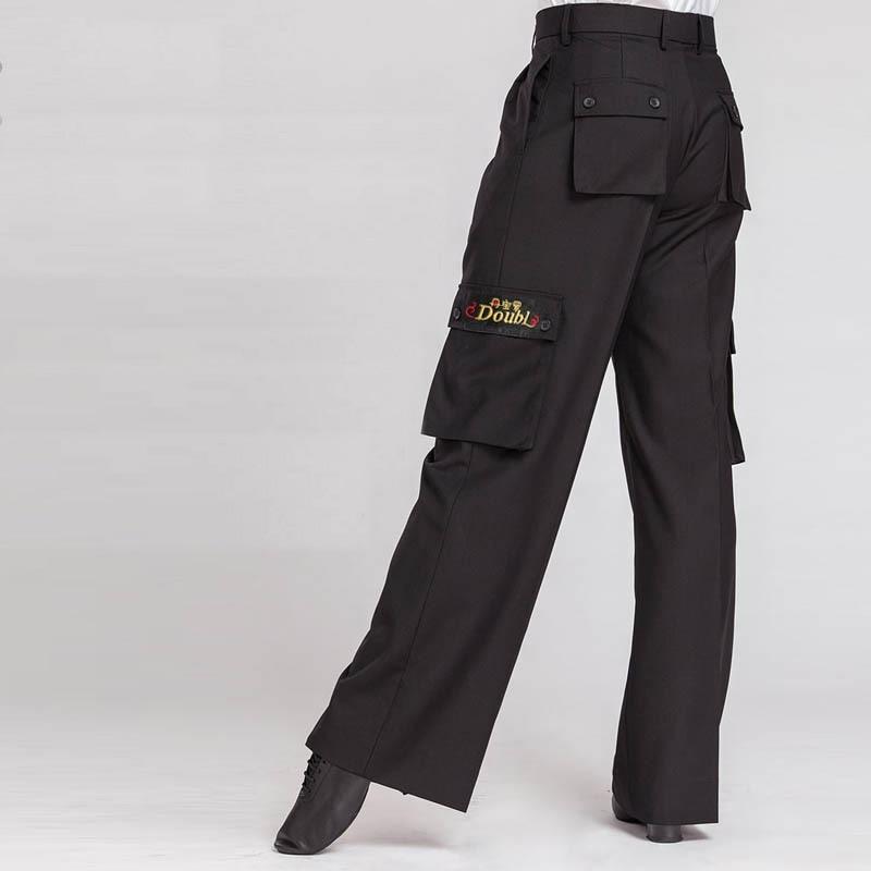 Original Latin Dance Pant For Male Black Color Fringe Pant Men Square Elegant Chacha Professional Waltz Tango Sexy Trouser N7048
