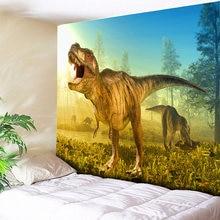 Солнечный лес динозавр хиппи гобелен настенный животный домашний