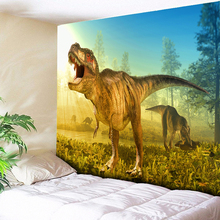 Sunny Forest Dinosaur Hippie Tapestry Wall Hanging Animal Home Decor Carpets Bedside Background Cloth 230x150CM