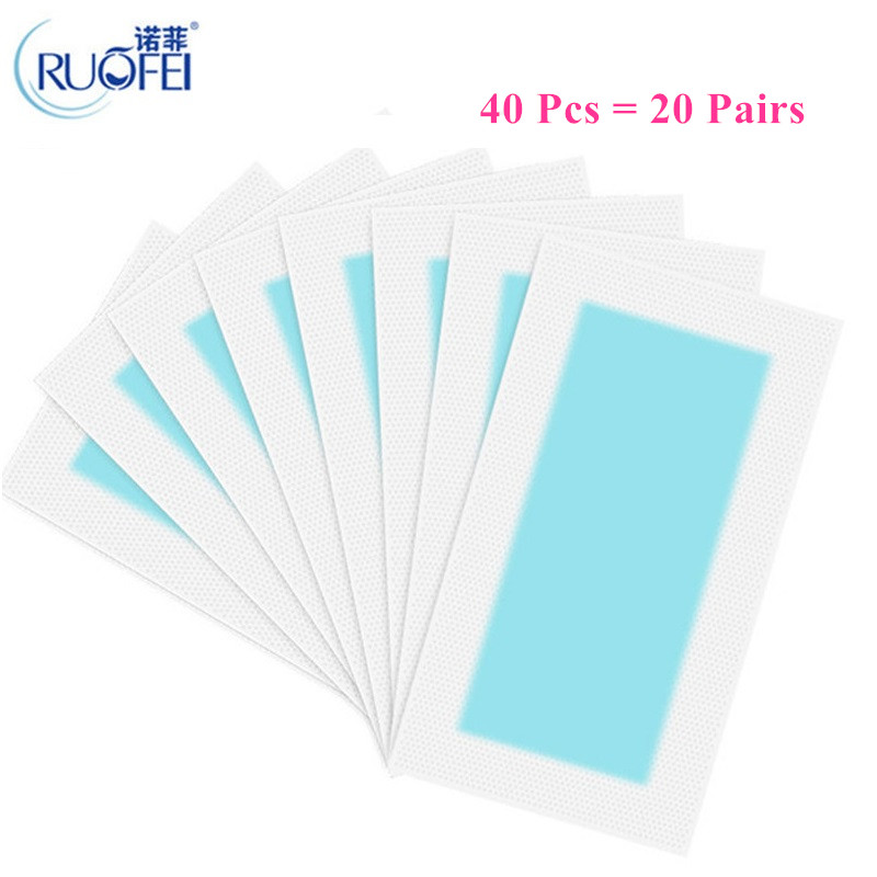 40pcs=20sheets Summer New Hot Sale Professional Hair Removal Paper Double Sided Cold Wax Strips Paper For Leg Body Skin Care