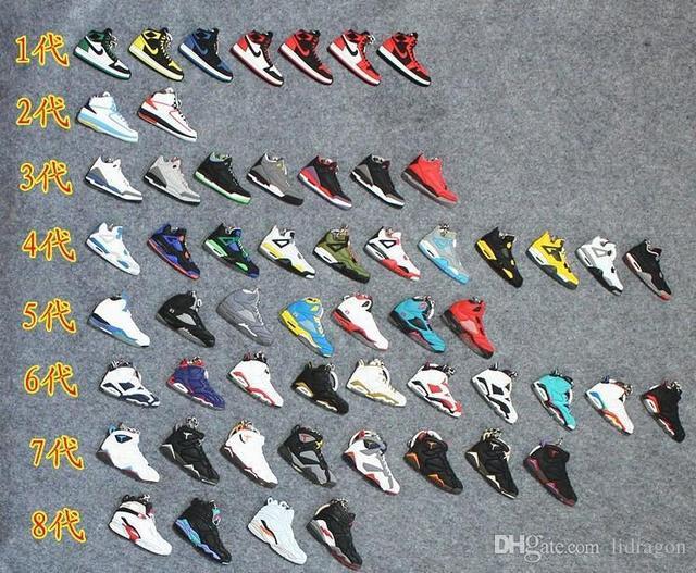 2014 Jordan AJ keychain Jordan models sneaker 1 2 3 4 5 6 7 8 9